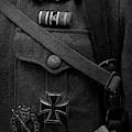 German Soldier Ww2 Black And White by John Straton