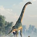 Giant Sauropod Walking Away by Daniel Eskridge