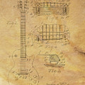 Gibson Les Paul Patent Drawing 1955 Canvas Print,photographic Print,art Print,framed Print, by David Millenheft