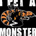 Gila Monster Halloween Venomous Lizard Pet Owner Dark by Nikita Goel