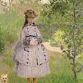 Girl In A Garden, 1873  by Claude Monet