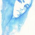 Girl In Blue by Raffaello Saverio Padelletti