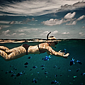 Girl Snorkelling In Indian Ocean by Rjw