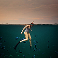 Girl Snorkelling by Rjw
