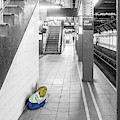 Girl Waiting For The Train by Sharon Popek