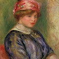 Girl With A Pink Hat, 1911 by Pierre Auguste Renoir