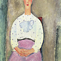 Girl With A Polka Dot Blouse, 1919 by Amedeo Modigliani