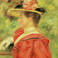 Girl With Glove by Pierre Auguste Renoir