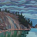 Gitchi-gami Cove Cliff by Phil Chadwick
