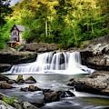 Glade Creek Grist Mill Waterfall by Tom Mc Nemar