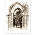 Glastonbury Abbey - England - Travel Poster by Menega Sabidussi