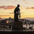 Gloucester Fisherman Memorial Sunrise by Joann Vitali