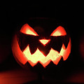 Glowing Evil Pumpkin  by Doc Braham