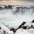 Godafoss Waterfall Iceland II by Joan Carroll