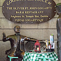 Gogarty And Joyce Statues One by Bob Phillips