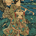 Going To A Cherry Blossom Viewing Party by Utagawa Kunisada