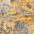 Gold And Steel Acrylic Textured Abstract by Sheila Wenzel