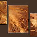 Wings Of Gold Brown Bckgrnd by Jai Adams