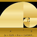 Golden Cut, Shown As A Spiral Out Of by Peter Hermes Furian