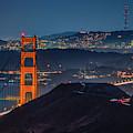 Golden Gate Bridge And The Sutro Tower by Kristen Wilkinson