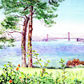 Golden Gate Bridge From Lincoln Park by Irina Sztukowski