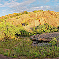 Golden Hour Panorama Of North Side Of Enchanted Rock From The Loop Trail - Fredericksburg Texas  by Silvio Ligutti