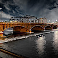 Golden Pearl Street Bridge Grand Rapids by Evie Carrier