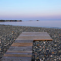 Goldthwait Beach Wooden Walkway Marblehead Ma Sunset Devereaux Beach by Toby McGuire