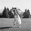 Golfing Hepburn by Hulton Archive