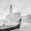 Gondola In Fog by Moonlight