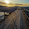 Good Harbor Footbridge At Sunrise Gloucester Ma by Toby McGuire