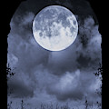 Gothic Archway And Moon by Clayton Bastiani