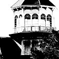 Gothic Building In Black And White by Colleen Cornelius