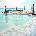 Grace Bay Old Dock by Carlin Blahnik CarlinArtWatercolor