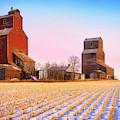 Grain Elevators Canadian Prairie by Dominic Piperata