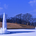 Grand Basin Fountains On Ice by Robert FERD Frank