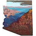 Grand Canyon In The Shape Of Arizona by Chance Kafka