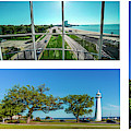 Grand Old Lighthouse Biloxi Ms Collage A1b by Ricardos Creations