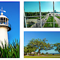 Grand Old Lighthouse Biloxi Ms Collage A1c by Ricardos Creations