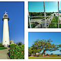 Grand Old Lighthouse Biloxi Ms Collage A1d by Ricardos Creations