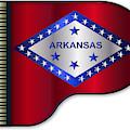 Grand Piano Arkansas Flag by Bigalbaloo Stock