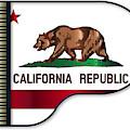 Grand Piano California Flag by Bigalbaloo Stock