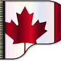 Grand Piano Canadian Flag by Bigalbaloo Stock