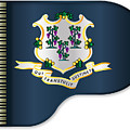 Grand Piano Connnecticut Flag by Bigalbaloo Stock