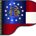 Grand Piano Georgia Flag by Bigalbaloo Stock