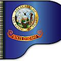 Grand Piano Idaho Flag by Bigalbaloo Stock