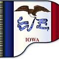 Grand Piano Iowa Flag by Bigalbaloo Stock