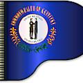 Grand Piano Kentucky Flag by Bigalbaloo Stock