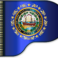 Grand Piano New Hampshire Flag by Bigalbaloo Stock