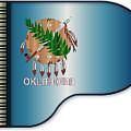Grand Piano Oklahoma Flag by Bigalbaloo Stock
